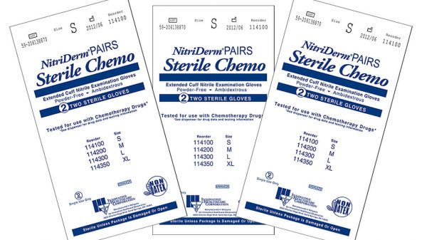 114 - NitriDerm® Nitrile Sterile Exam Gloves - Extended Cuff