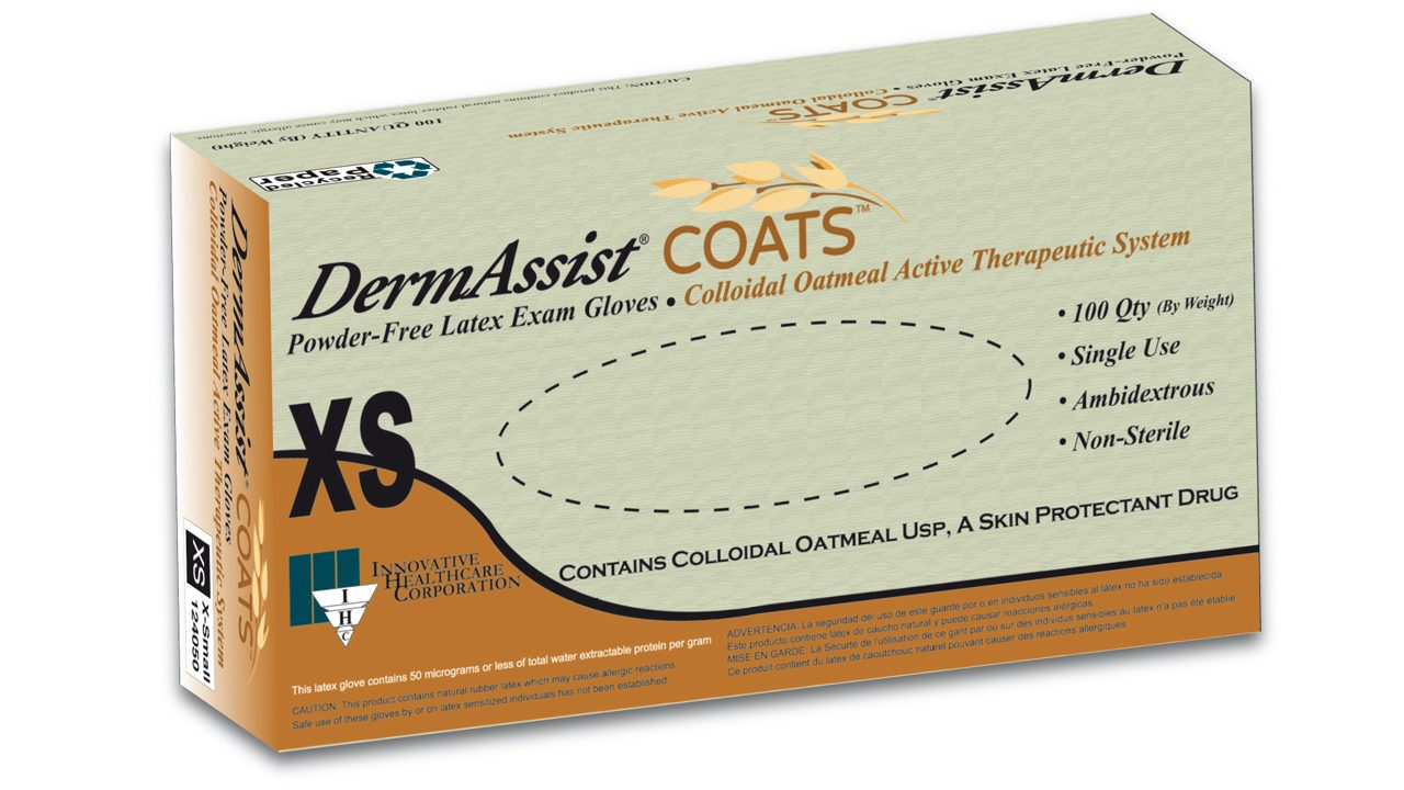 124 - DermAssist COATS Latex Exam Gloves - IHC Solutions