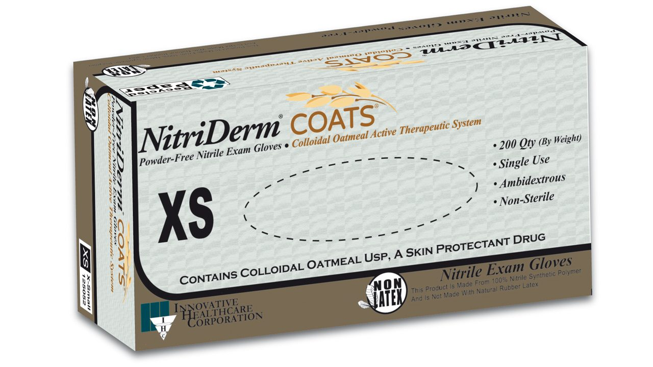 125 – NitriDerm® COATS™ Nitrile Exam Gloves - IHC Solutions