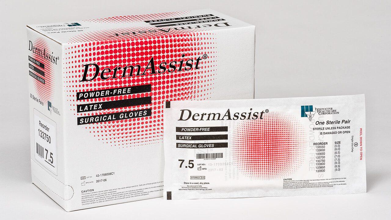 133 - DermAssist® Latex Sterile Surgical Gloves