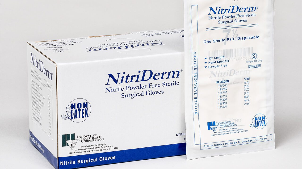 135 - NitriDerm® Nitrile Surgical Gloves