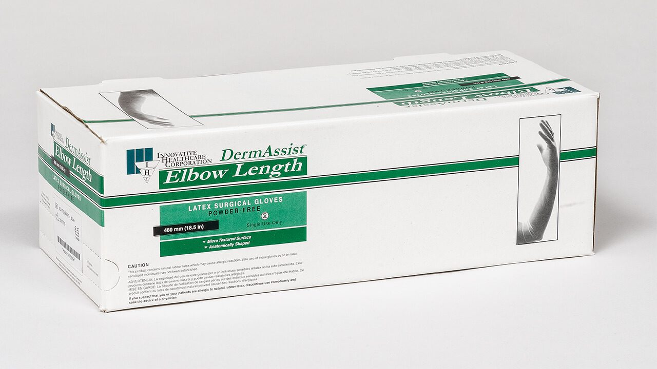 141 - DermAssist® Latex Elbow Length Surgical Gloves