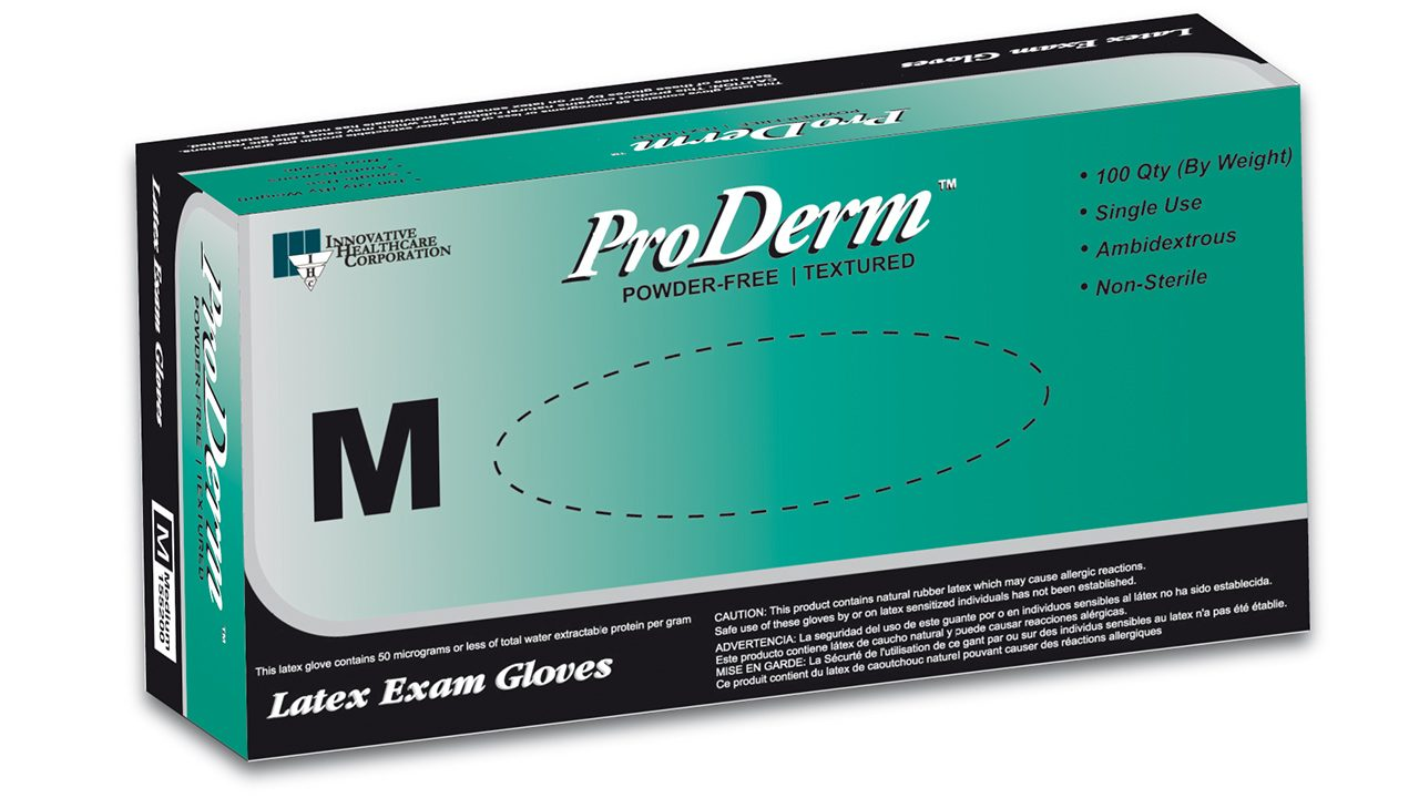 155 – ProDerm™ Latex Exam Gloves - Innovative Healthcare Solutions
