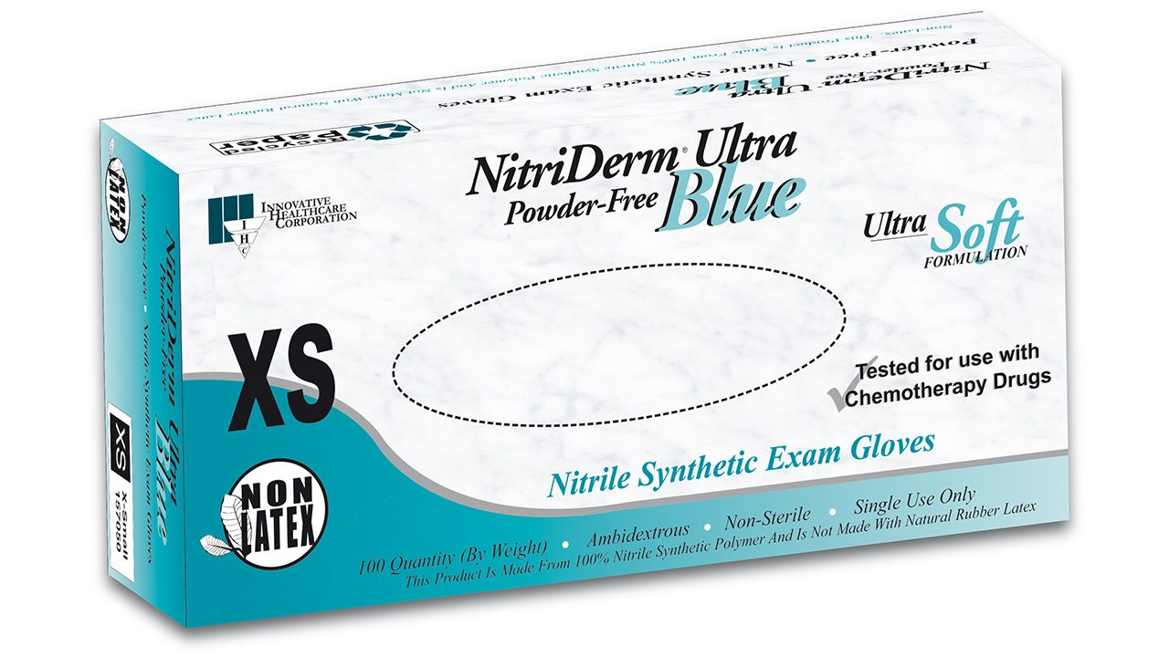 157 – NitriDerm® Ultra Blue Nitrile Exam Gloves - Innovative Healthcare Solutions