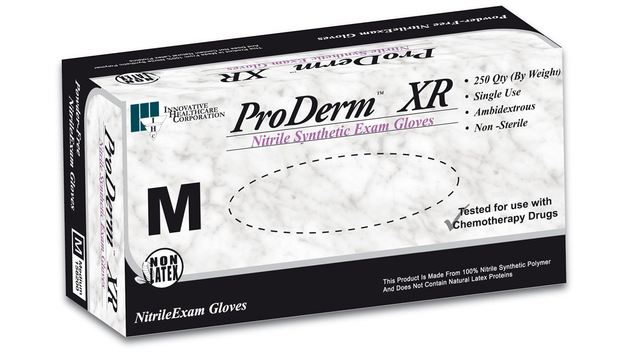 158 – ProDerm™ XR Nitrile Exam Gloves - Innovative Healthcare Solutions