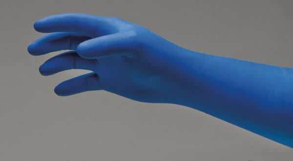 181 - DermAssist® EP BLUE™ Latex Exam Gloves - Extra Protection - www.ihcsolutions.com