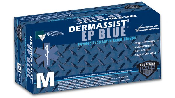 181 – DermAssist® EP BLUE™ Latex Exam Gloves – Extra Protection - Innovative Healthcare Solutions
