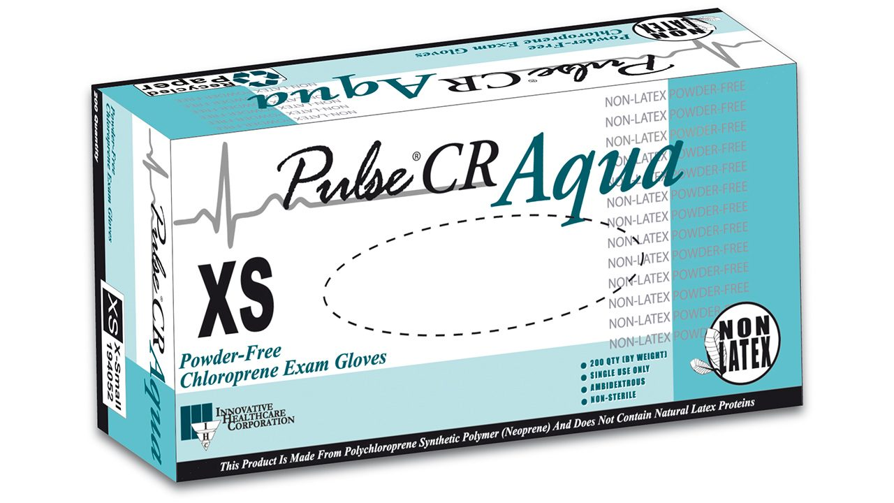 194 – Pulse® CR Aqua Chloroprene Exam Gloves - Innovative Healthcare Solutions