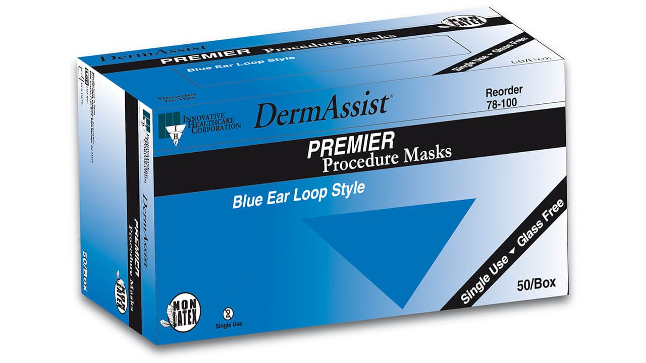 78-100 - DermAssist® PREMIER™ Face Masks